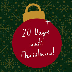 Red & Green Christmas Countdown Instagram Square Countdown