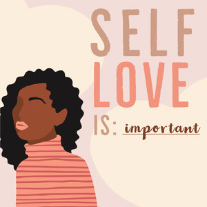 Pink Neutral Self Love Instagram Square Affiche de motivation