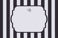 Black and White Stripes and Skull Halloween Party Name Tag Festa di Halloween
