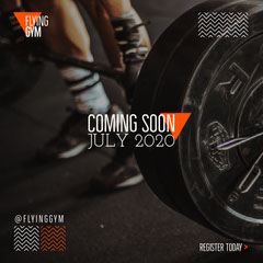 Black, White and Orange, Gym Opening, Instagram Square Opening Soon