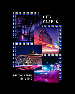 Black City Scapes Instagram Portrait  Stream