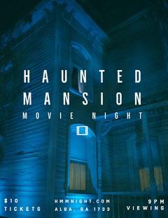 HAUNTED MANSION  Movie Night Flyer