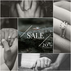 Black and White Jewelry Store Sale Square Instagram Ad Jewelry