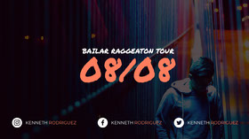 Black and Orange Tour Banner Banner do YouTube