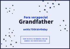 birthday card for man Stars