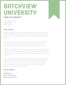 Green and White Professional Letter Lettera