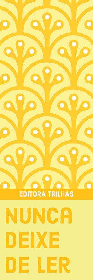 yellow patterned bookmarks  Marcador de livro