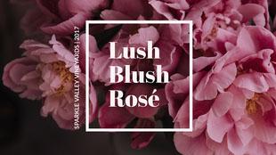 Lush Blush Rosé Rótulo de vinho