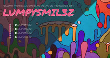 Colorful Illustrated Paint Splash Twitch Banner Banner per Twitch