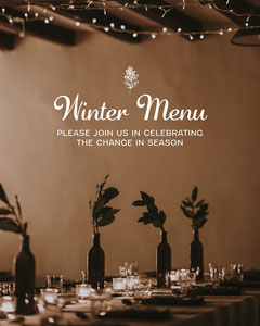 brown white Christmas winter menu restaurant instagram portrait  Educational Course