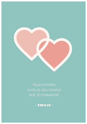 sweet couple congratulations cards Carte de félicitations