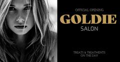 Black & White Salon Launch Facebook Post Hair Salon