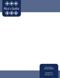 Blue Quilt Business Letterhead Letterhead Templates
