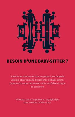 Besoin d'une baby-sitter? Prospectus