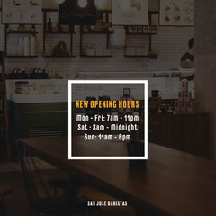 Baristas New Opening Hours Instagram Square Tea Time