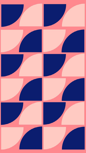 Pink and Blue Abstract Pattern Smart Phone Wallpaper Zoom-Hintergründe