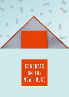 Blue and Orange Congratulation Card Friends