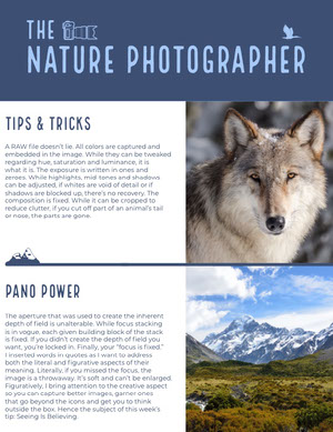 Nature Photographer Informativo