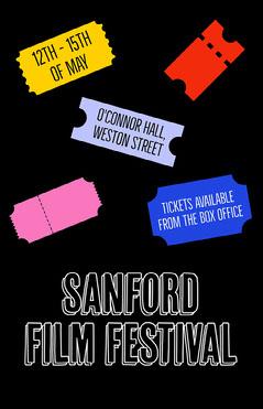 Colourful Ticket Film Festival Poster Film Festival Poster