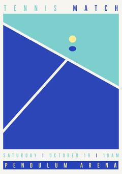 Flyer Tennis Match Sports