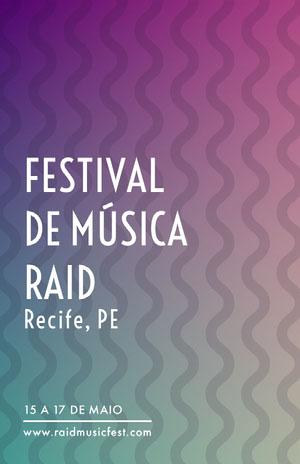 FESTIVAL <BR>DE MÚSICA RAID  Pôster de evento