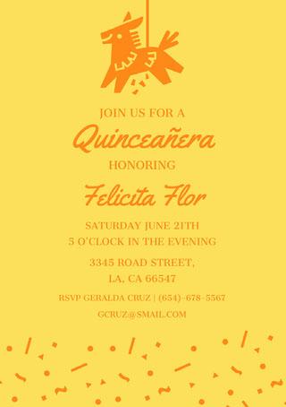 quinceanerainvitations Invito al 15° compleanno