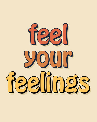 Feel Your Feelings Simple Quote Free Fonts