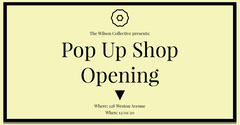 Yellow Pop Up Shop Facebook Post Ad Shopping