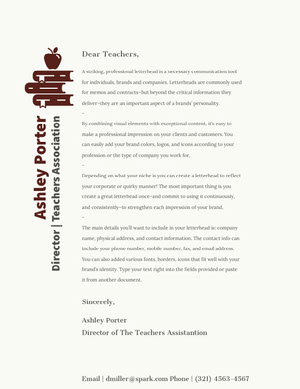 Brown and Grey Professional Letter  lettre de motivation