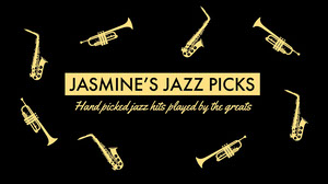 Black and Yellow Jazz Picks Youtube Thumbnail Music Banner