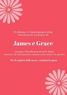 pink wedding cards  Biglietti di ringraziamento per il matrimonio