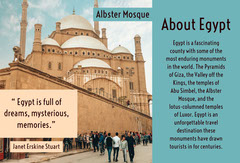 Blue and Brown Egypt Travel Brochure with Mosque Travel