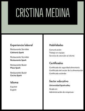 Cristina Medina Currículum profesional