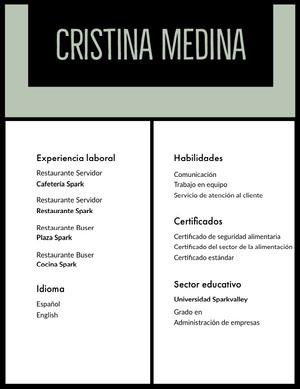 Cristina Medina Currículum vitae