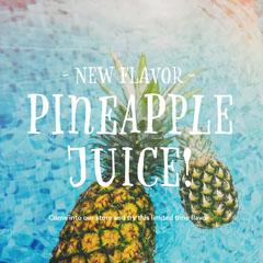 Bright Colors Pineapple Juice Ad Instagram Post Juice