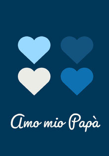blue hearts Father's Day cards Biglietti elettronici per la festa del papà