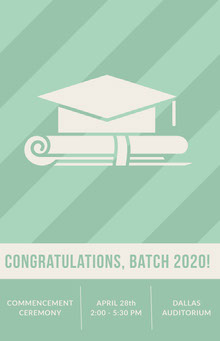 Congratulations, Batch 2020!  School Posters