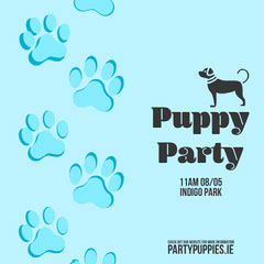 Puppy Party Instagram Story Dog