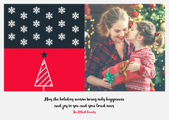 red tree holiday photo card Trees