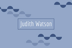 blue pattern name tag Pattern Design