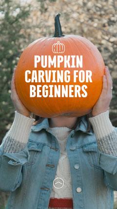 Beginners Pumpkin Carving IG Story Autumn