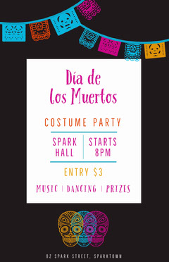 Day of the Dead Party Poster Party