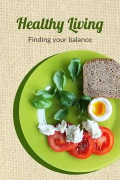 Beige Green Plate a healthy Living Balance Pinterest Healthy