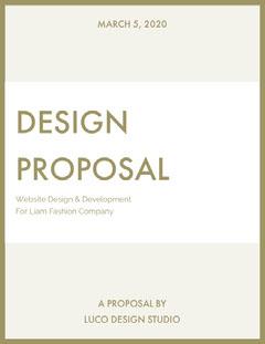 Gold Website Design Business Proposal Agency