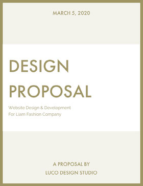 Gold Website Design Business Proposal 제안서