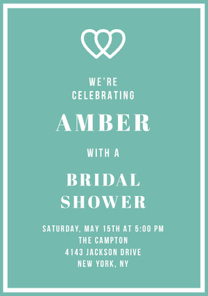 AMBER  Bridal Shower Invitation