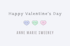 Pastel heart valentines name tag Valentine's Day
