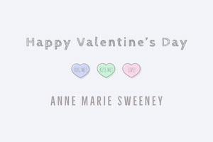 Pastel heart valentines name tag Balise de nom