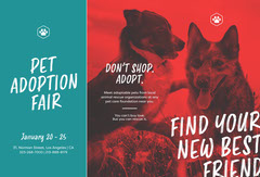 Find Your New Best Friend Brochure Dog Adoption Flyer