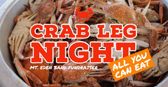 Orange, Warm Toned Crab Night Fundriser Event Ad Facebook Banner Fundraiser